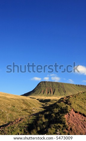 Lly Fan Fach - Brecon Beacons Wales UK - stock photo