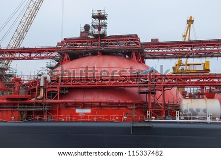 LNG Container - stock photo