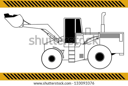 Loader excavator construction machinery equipment - stock photo