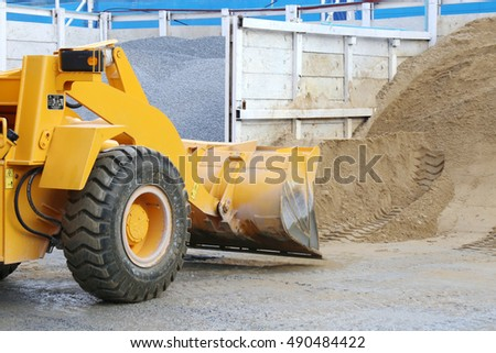 Loader work on site