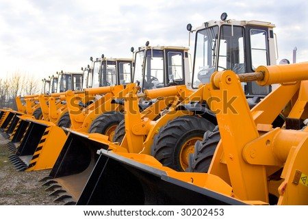 loaders - stock photo