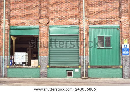 Loading area of a factory in the UK - stock photo