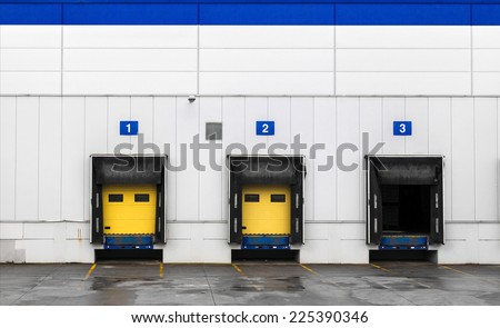 Loading dock at a warehouse - stock photo
