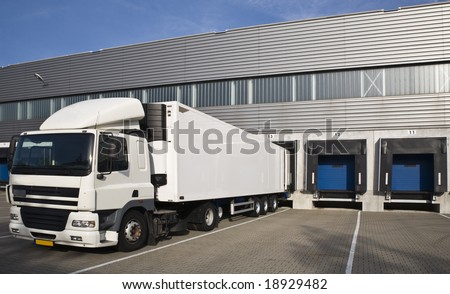 Loading docks - stock photo
