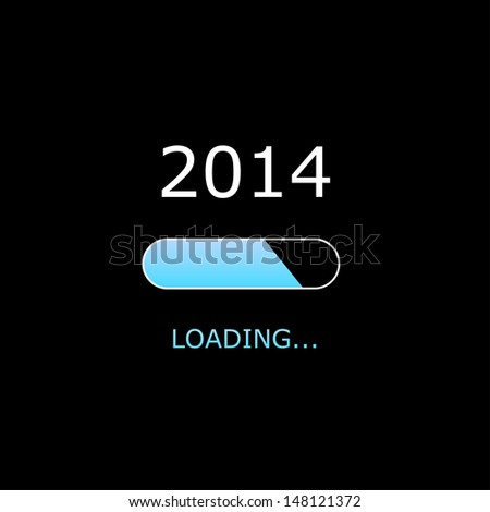 LOADING 2014 Illustration - stock photo