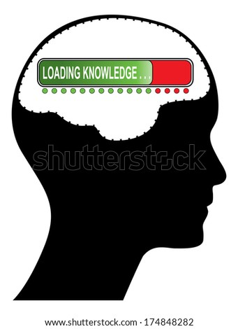 Loading knowledge concept design, raster version. More variations available in my portfolio. - stock photo