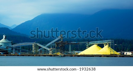Loading / mining structure along Vancouver harbor. More with keyword group14e