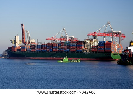 Loading of containers in the Odessa port