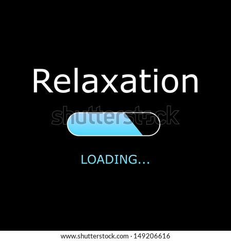 LOADING Relaxation Illustration - stock photo