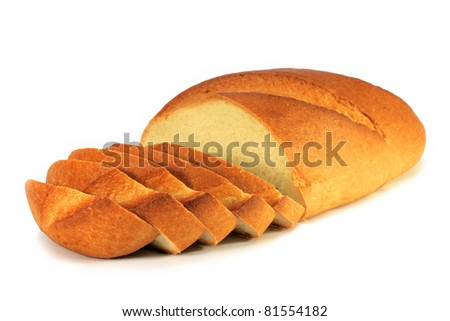 loaf bread isolated - stock photo