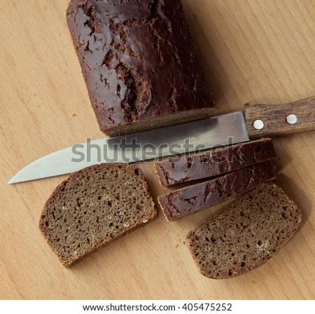 Loaf cocoa cake  - stock photo