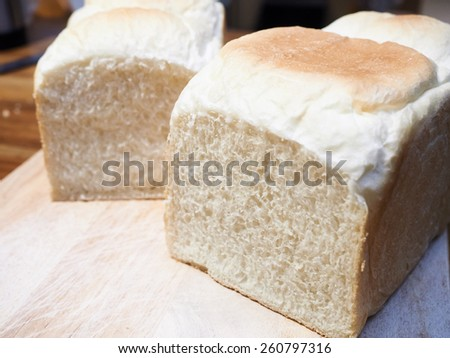 loaf of bread baking delicious isolated - stock photo