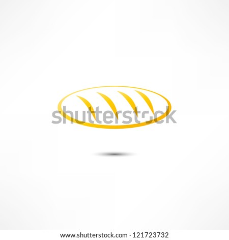 Loaf Of Bread Icon - stock photo