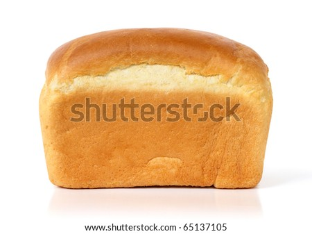 Loaf of bread isolated on white - stock photo