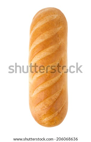 Loaf of bread on white background - stock photo