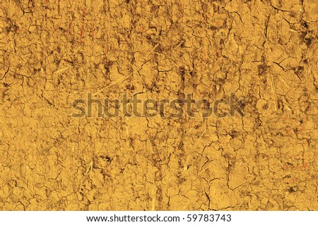 Loam wall's rough surface, background - stock photo