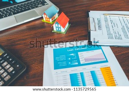 loan payment calculators financial calculators house stock photo