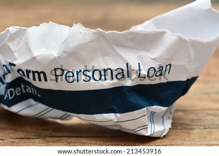 Loan form trash concept - stock photo