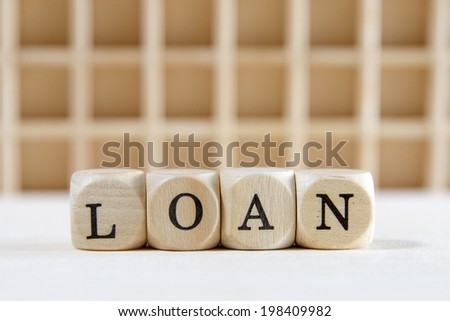 loan word concept - stock photo