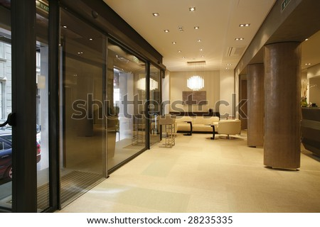 lobby interior - stock photo