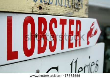 Lobster Sign - stock photo