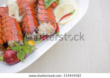 Lobster tails - stock photo