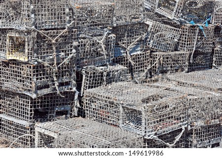Lobster Traps - stock photo
