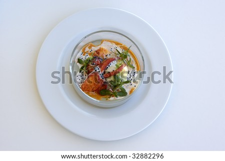 Lobster with Caviar - stock photo