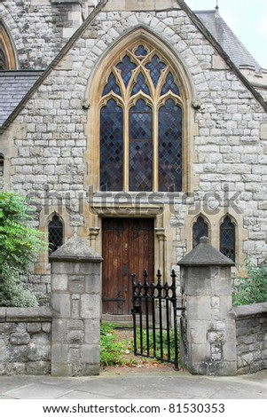 Local Christian Protestant church in London neighborhood