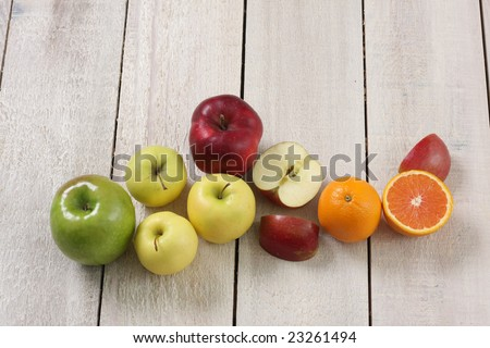 Local country market fruit display. - stock photo