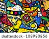 local phuket batik pattern - stock photo