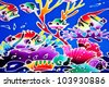 local phuket batik pattern - stock photo