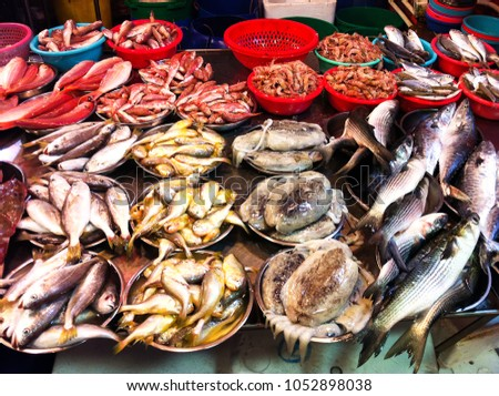 local seafood market in Hong Kong
