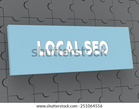 LOCAL SEO - stock photo