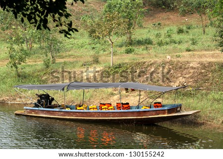Local Thai boat in the lake