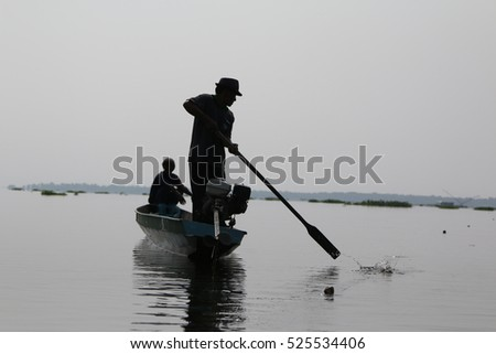 Local Thai Fisherman in Action