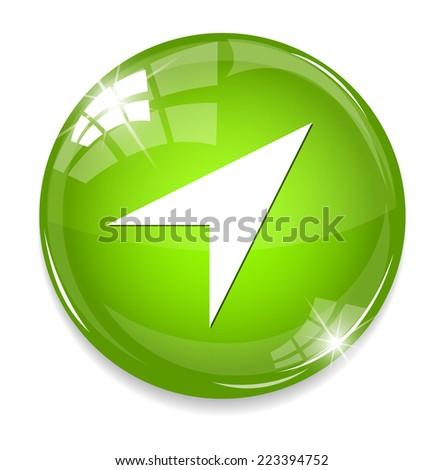 location button - stock photo