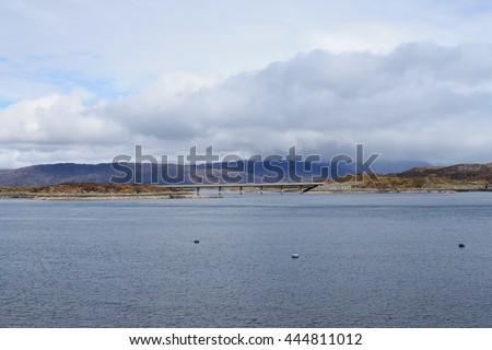 Loch Alsh near the Skye Bridge - Scotland - stock photo