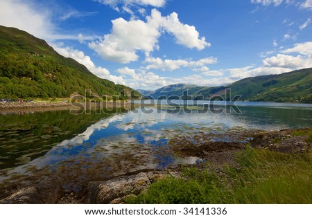 Loch Duich in the Highlands of Scotland