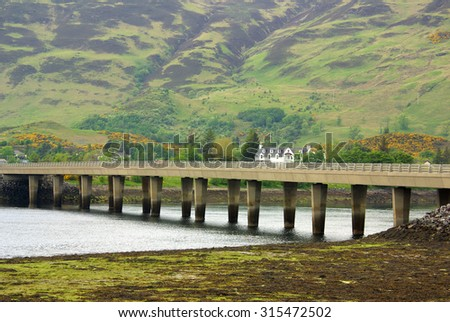 Loch Duich, Scottish Highlands in summer day - stock photo