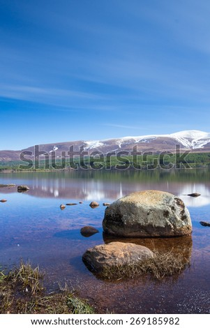 Loch Morlich,in the Cairngorm National Park, Scotland - stock photo