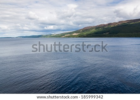 Loch Ness in the Scottish Highlands, Scotland - stock photo