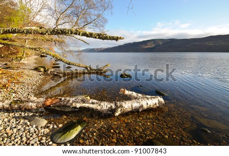 Loch Ness lake, Scotland - stock photo