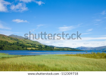 Loch Tay close to Killin, Scotland