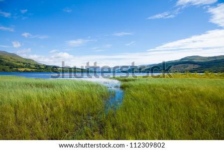 Loch Tay close to Killin, Scotland - stock photo