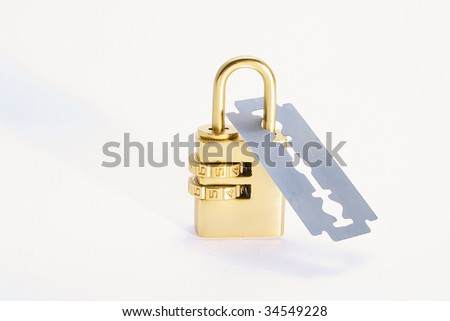 Lock and blade - stock photo