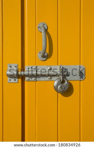 Lock and bolt - stock photo