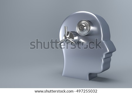 Lock and protect your data concept illustration. 3d rendering