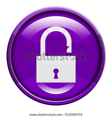lock button isolated