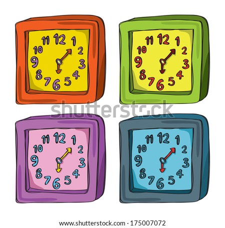 lock doodle in various color - stock photo